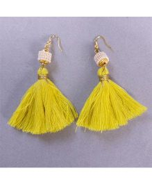 Tiny Closet Pair Of Tassle Earrings - Yellow