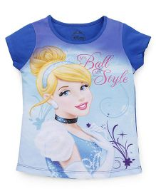 Eteenz Short Sleeves Tee Cinderella Print - Royal Blue