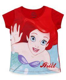 Eteenz Short Sleeves Tee Ariel Print - Red