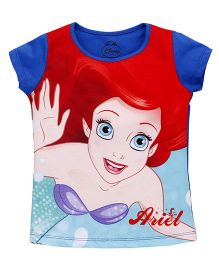 Eteenz Short Sleeves Tee Ariel Print - Royal Blue Red