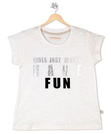 Raine And Jaine Fun Caption Print Tee - White