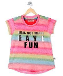 Raine And Jaine Fun Caption Print Tee - Multicolor
