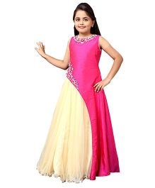 Betty By Tiny Kingdom Pretty Evening Gown - Rani Pink & Cream