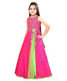 Betty By Tiny Kingdom Floor Length Gown- Rani Pink