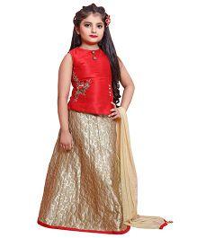 Betty By Tiny Kingdom Ghagra Choli & Dupatta - Red