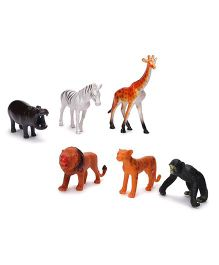 Playmate Wild Animals Set Multicolor 6 Pieces - 7 cm
