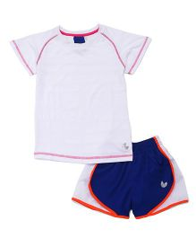 Tyge Sporty Tee And Shorts Set - White
