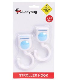 Ladybug Stroller Hook White - Pack Of 2