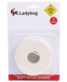 Ladybug Soft Edge Guard - White