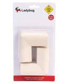 Ladybug U Shape Super Soft Corner Guard White - Pack Of 4