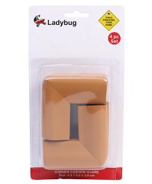 Ladybug U Shape Super Soft Corner Guard Brown - Pack Of 4