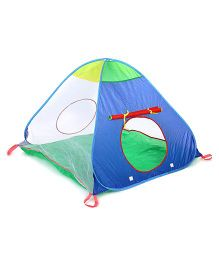 Baby Play Tent House Triangle Shape - Blue Green