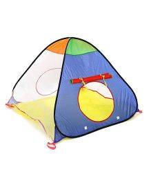 Baby Play Tent House Triangle Shape - Blue Orange Yellow