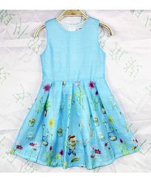 Wonderland Garden Print Dress - Blue
