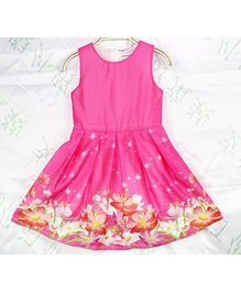 Wonderland Twinkling Flower Print Dress - Pink