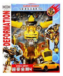 Emob Deformation Musical Super Power Hero Robot Action Figure - Yellow