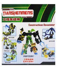 Emob 5 in 1 Devastator Energon Robot Construction Complete Action Figure Combiner - Green