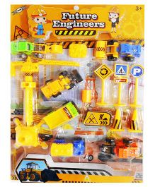 Emob Future Engineers Die Cast Construction Toy Play Set - 15 Pieces