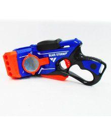 Emob 180° Movable Blaze Storm Manual Soft Foam Bullets Battle Gun - Blue Orange