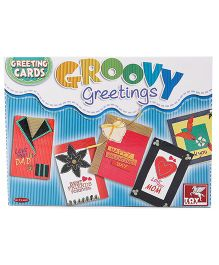Toy Kraft Groovy Greeting Cards DIY Kit - Multi Color