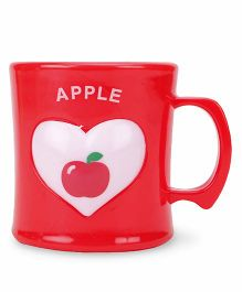 Apple Print Cup Red - 330 ml
