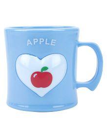 Apple Print Cup Blue - 330 ml