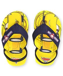 Disney Pixar Cars Flip Flops With Back Strap - Yellow