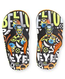 Minions Flip Flops With Back Strap - Black Orange