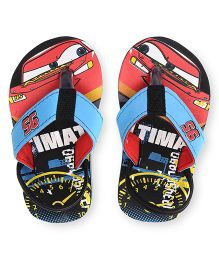 Disney Pixar Cars Flip Flops With Back Strap - Blue Black