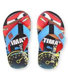 Disney Pixar Cars Flip Flops - Blue Black