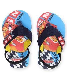Disney Pixar Cars Flip Flops With Back Strap - Blue