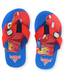 Disney Pixar Cars Flip Flops - Blue Red