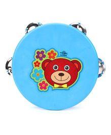 Speedage Bear Face Print Dafli - Blue