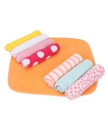 Babyhug Wash Clothes Pack of 8 - Multicolor