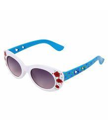 Miss Diva Double Flower Smart Sunglasses - White