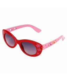 Miss Diva Double Flower Smart Sunglasses - Red