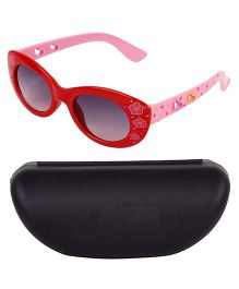 Miss Diva Double Flower Smart Sunglasses With Case - Red