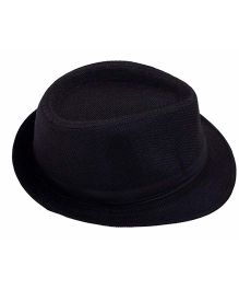 Miss Diva Stylish Hollywood Hat - Black