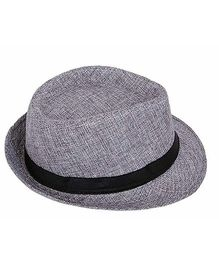 Miss Diva Stylish Hollywood Hat - Grey