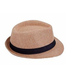 Miss Diva Stylish Hollywood Hat - Beige