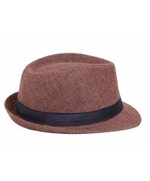 Miss Diva Stylish Hollywood Hat - Brown