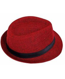 Miss Diva Stylish Hollywood Hat - Red