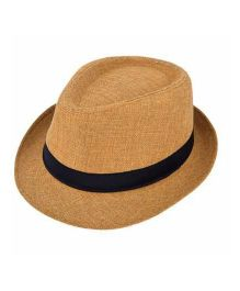 Miss Diva Stylish Hollywood Hat - Light Brown