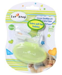 1st Step - Kids Finger Toothbrush With Carry Case