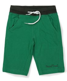 Parrot Crow 3/4th Jersey Shorts - Green