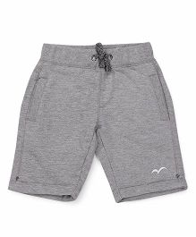 Parrot Crow Knee Length Shorts With Fancy Draw String - Grey
