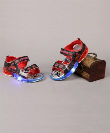 Little Maira LED Cartoon Printed Sandals - Red