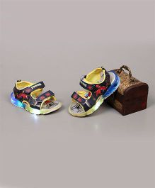 Little Maira LED Cartoon Printed Sandals - Yellow
