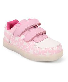Little Maira Stylish USB Star Shoes - Pink & White