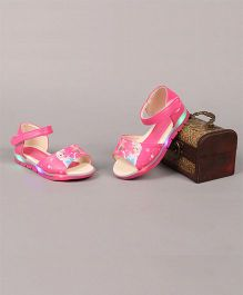 Little Maira LED Cartoon Printed Sandals - Pink